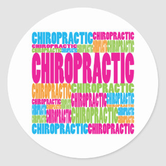 Colorful Chiropractic Stickers
