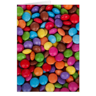 Colorful Chocolate Candies Greeting Card