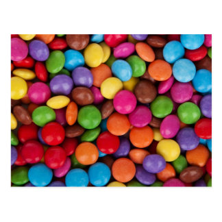 Colorful Chocolate Candies Postcard
