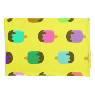 Colorful chocolate covered Ice pops pillowcase
