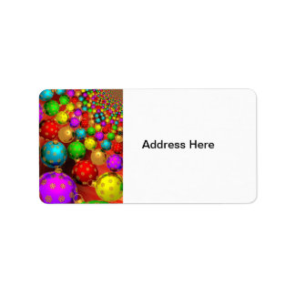 Colorful Christmas Address Label
