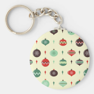 Colorful Christmas balls pattern Key Chains