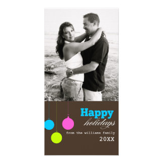 Colorful Christmas Card Personalised Photo Card
