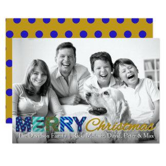 Colorful Christmas Card | Polka Dot Background 13 Cm X 18 Cm Invitation Card