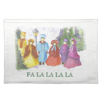 Colorful Christmas Carolers Placemat