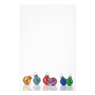 Colorful Christmas Glitter Ornaments - Stationery