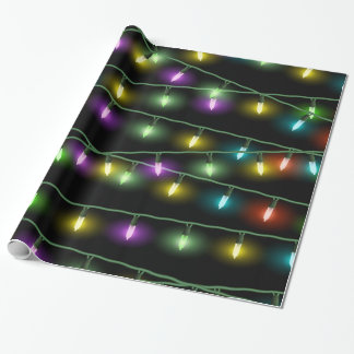 Colorful Christmas Lights Wrapping Paper