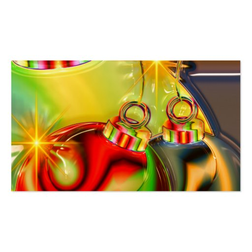 Colorful Christmas Ornament Mirrored Decoration Business Card Template