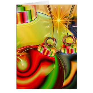 Colorful Christmas Ornament Mirrored Decoration Greeting Card