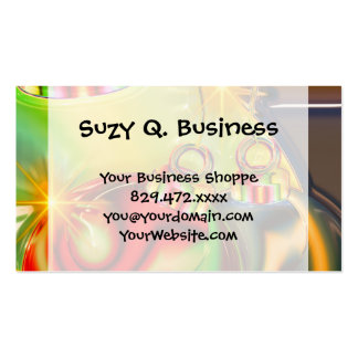 Colorful Christmas Ornament Mirrored Decoration Pack Of Standard Business Cards