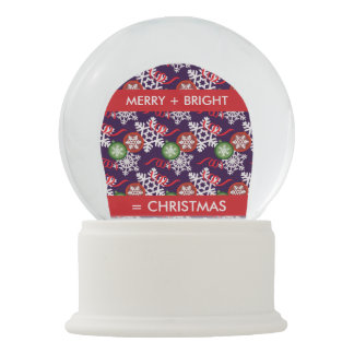Colorful Christmas Pattern Snow Globe