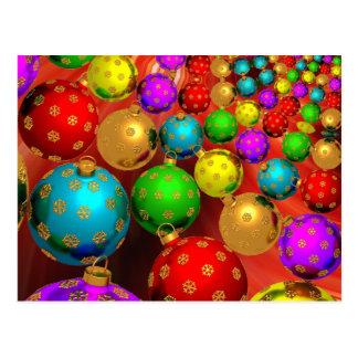 Colorful Christmas Postcard