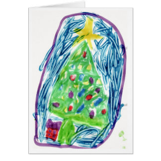 Colorful Christmas Tree Greeting Card
