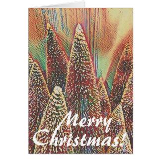 Colorful Christmas Tree Scene Card