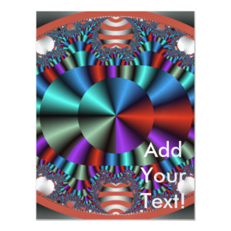 Colorful Chrome Eye Abstract Magnetic Invitations