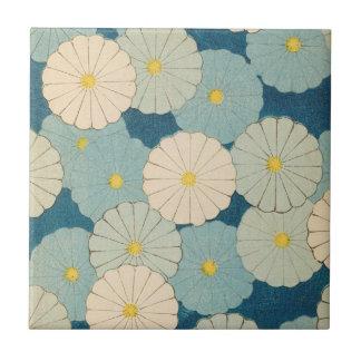 Colorful Chrysanthemum Flowers Tile