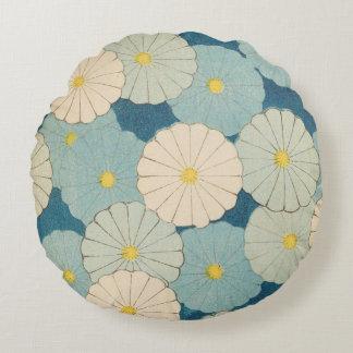 Colorful Chrysanthemum Round Cushion