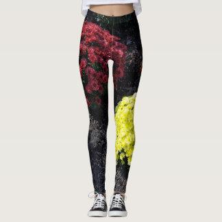 Colorful Chrysanthemums Leggings