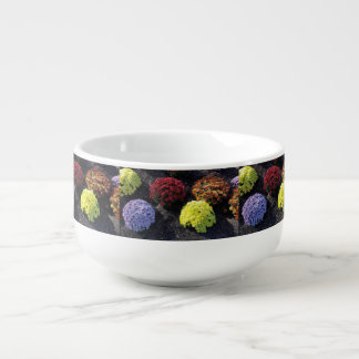 Colorful Chrysanthemums Soup Mug