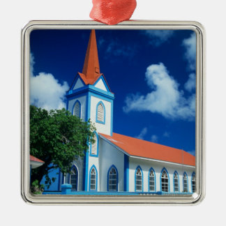 Colorful church on the island of Tahaa in the Ornament