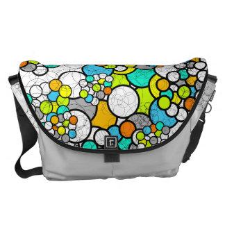 Colorful Circle Large Messenger Bag