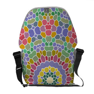 Colorful circle mosaic pattern commuter bags