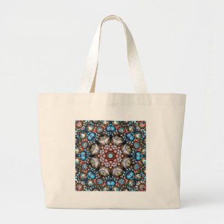 Colorful Circle of 3D Shapes Large Tote Bag