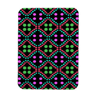 colorful circle pattern rectangle magnet