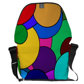 Colorful Circle Pattern Messenger Bags