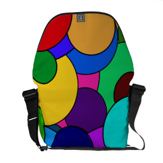 Colorful Circle Pattern Messenger Bags
