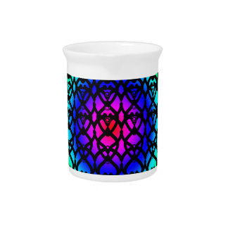 Colorful Circle Rainbow Abstract pattern Pitcher