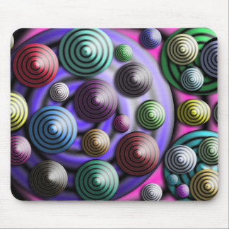 Colorful Circles, 3D Look Mouse Pad