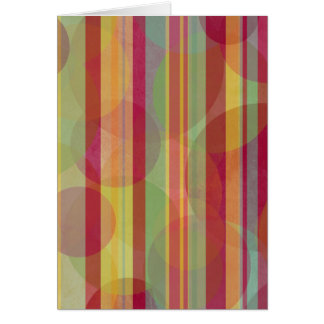 Colorful circles and stripes card