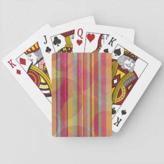 Colorful circles and stripes playing cards