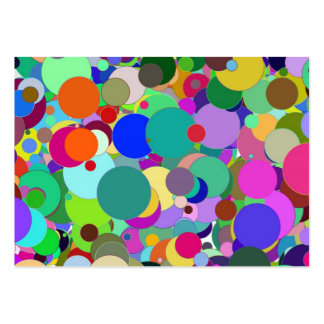 Colorful circles business card template