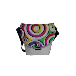 Colorful Circles Commuter Bag