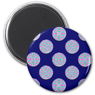 Colorful circles 6 cm round magnet