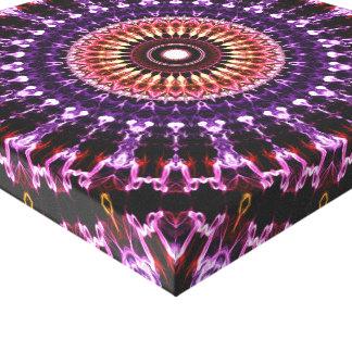 Colorful Circles Mandala Canvas Print