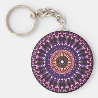 Colorful Circles Mandala Key Ring