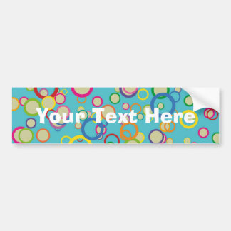 Colorful Circles Pattern Bumper Sticker