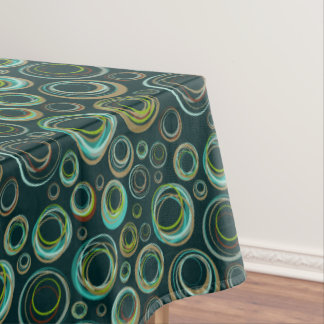 Colorful Circles Pattern Tablecloth
