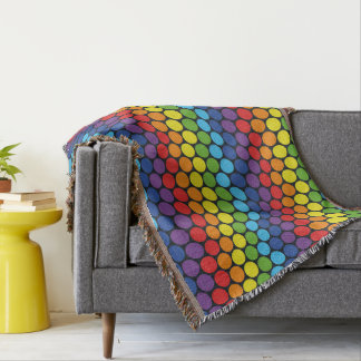 Colorful Circles Pattern Throw Blanket