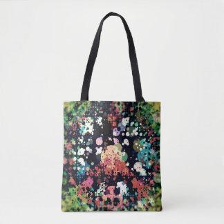 Colorful Circles Peace Sign Tote Bag