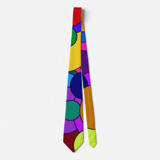 Colorful Circles Tie