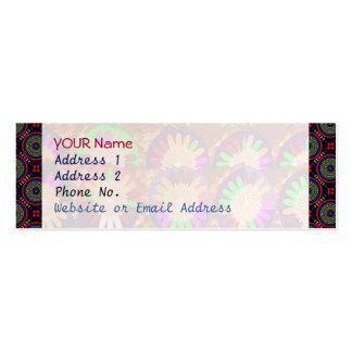 Colorful Circular Border Grace Energy Template Business Card