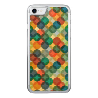 Colorful Circular Geometric Pattern Carved iPhone 8/7 Case
