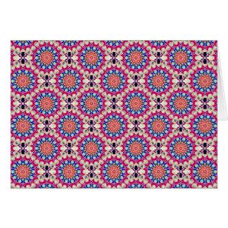 Colorful Circular Repeating Abstract Pattern Greeting Card