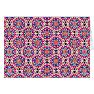 Colorful Circular Repeating Abstract Pattern Greeting Card