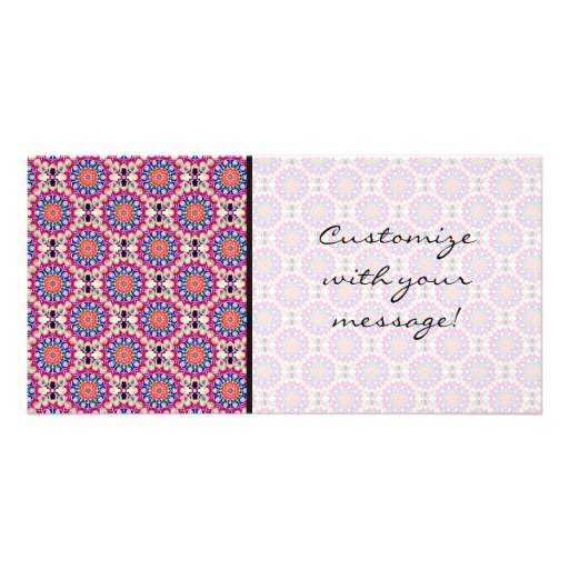 Colorful Circular Repeating Abstract Pattern Picture Card
