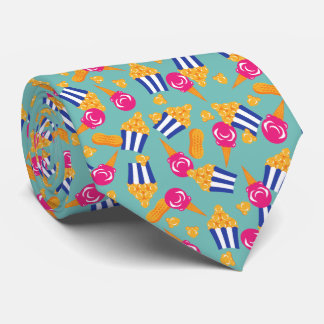 Colorful Circus Treats Ice Cream Popcorn Tie